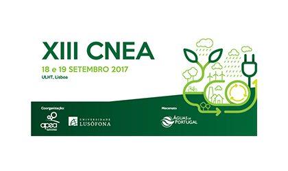 XIII CNEA – Congresso Nacional de Eng. do Ambiente