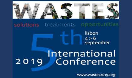 Conferência Internacional WASTES: Solutions, Treatments and Opportunities – 4 e 6 de setembro de 2019